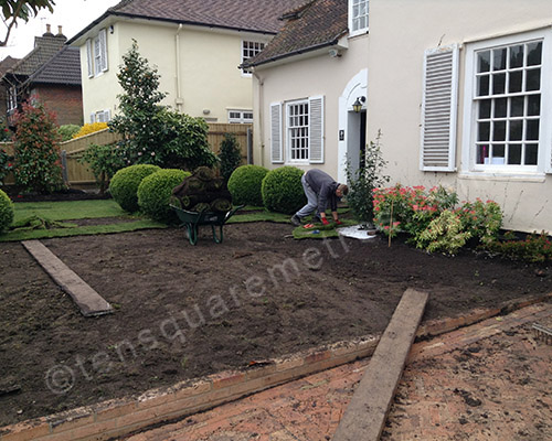 new lawn being laid