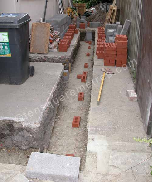 dry concrete in foundations