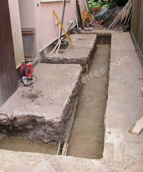 foundation filled with concrete